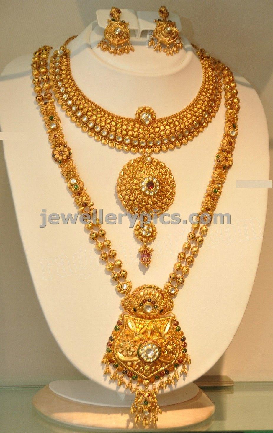 Outstanding Khazana Gold Haram Long Necklace Designs Latest Jewellery Short Hairstyles For Black Women Fulllsitofus
