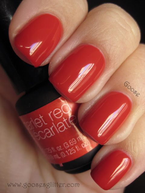 Sensationail Scarlet Red Nail Polish Inspiration Pinterest