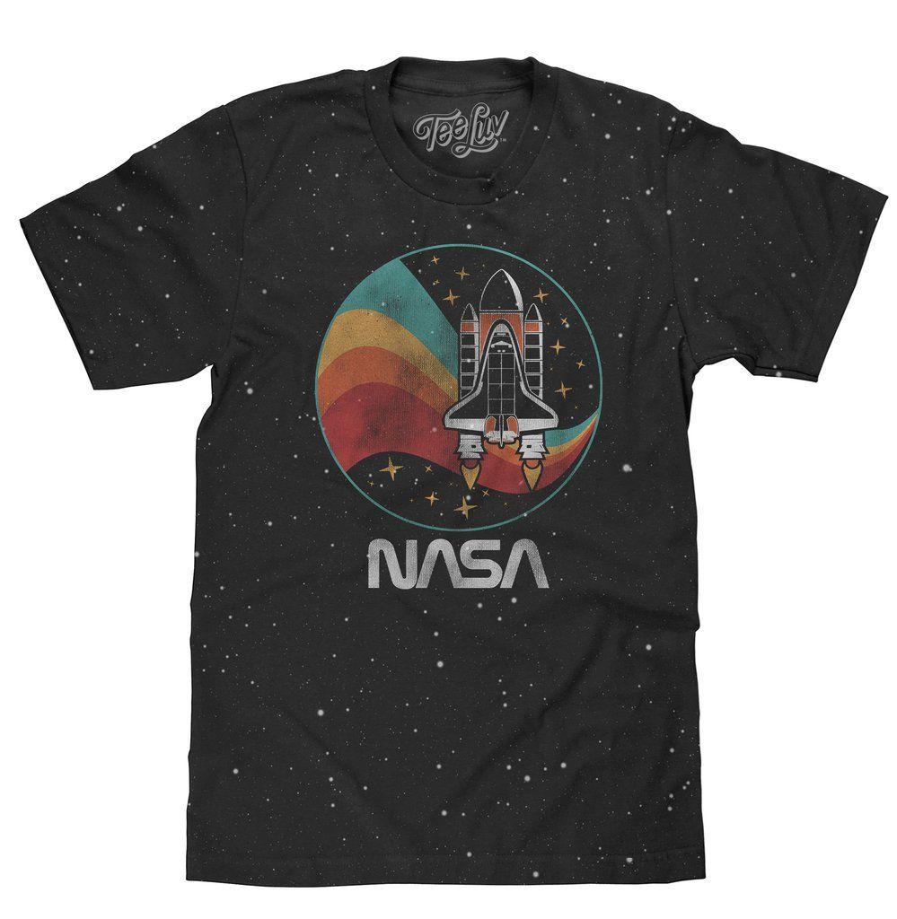 NASA Worm Shuttle Logo TShirt Black in 2019 Nasa