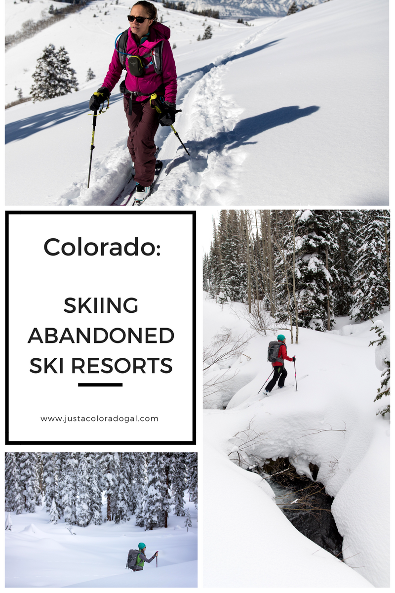 colorado is packed full of abandoned ski resorts: ski hills that
