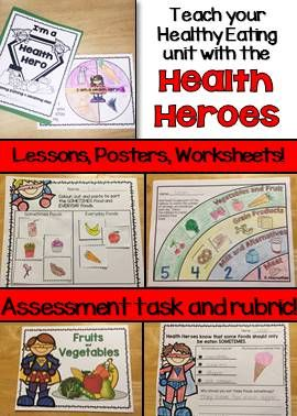 Healthy Eating Unit with Rubric and Lessons - Canadian Grade 1 and ...