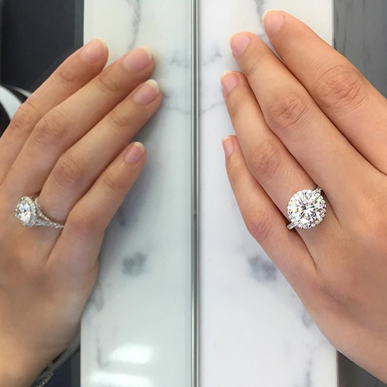 2 5 Ct Round Halo Wedding Ring Moissanite Diamond Ring 14kt White Gold Engagement Ring Custom Ring Forever One Ring Bridal Ring In 2021 Round Halo Wedding Rings Wedding Rings Halo White