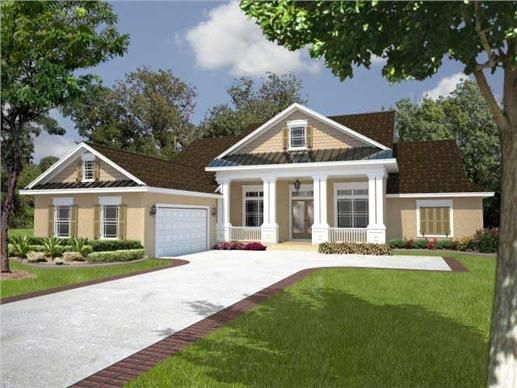 Classic House Plan With Columns In Front 150 1001 Country Style House Plans Porch House Plans House Plans