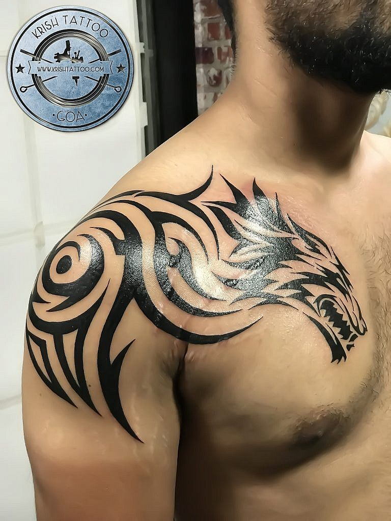 Photo of Tatouage Tribal Loup