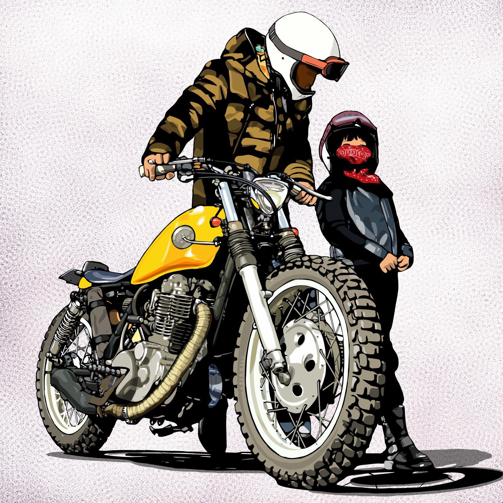 Maharo Sr Motorcycle Posters Bike Sketch Bike Art