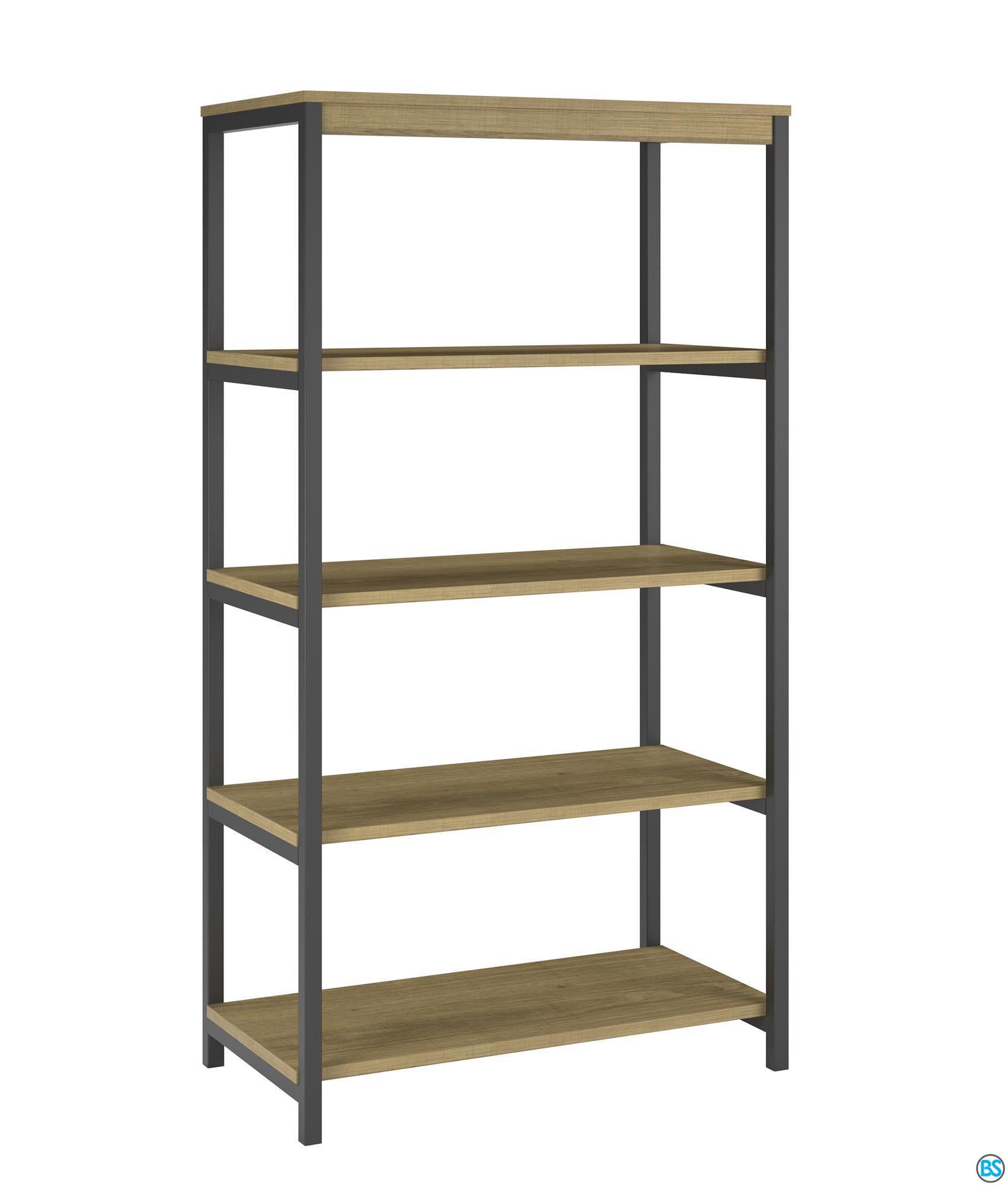 Ameriwood Home Nickle Creek 5 Shelf Bookcase, Golden Oak