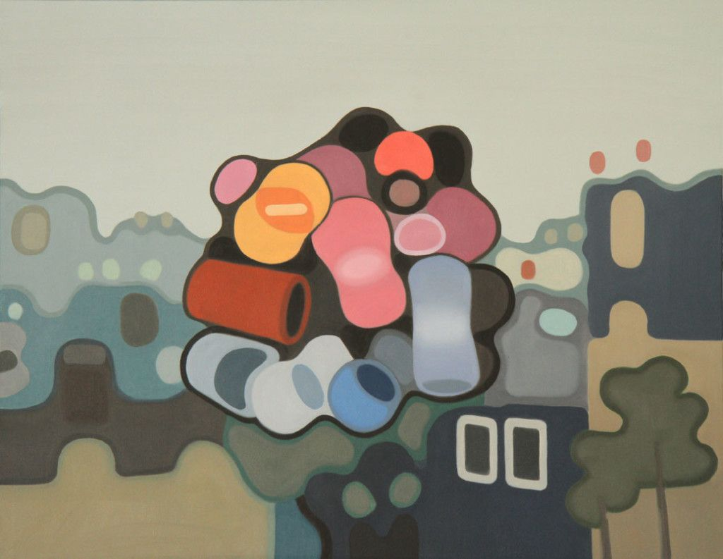 View from the North Exit – Elohim Sanchez - Oil on canvas – 24″ x 30″ – 2014