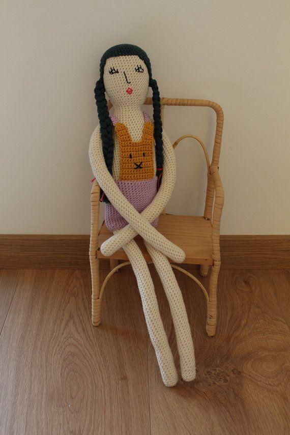 Crochet doll Lena doll finished doll crochet doll 20 by Melosina