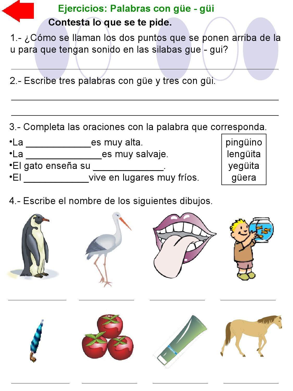 Related Image Palabras Con Gue Gui Palabras Oraciones
