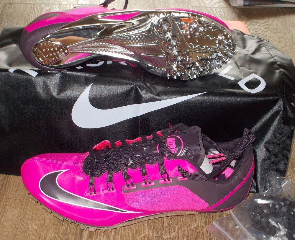 NEW NIKE ZOOM SUPERFLY R4 Track Field Spikes MENS 10.5 Pink Foil $130 NIB # Nike