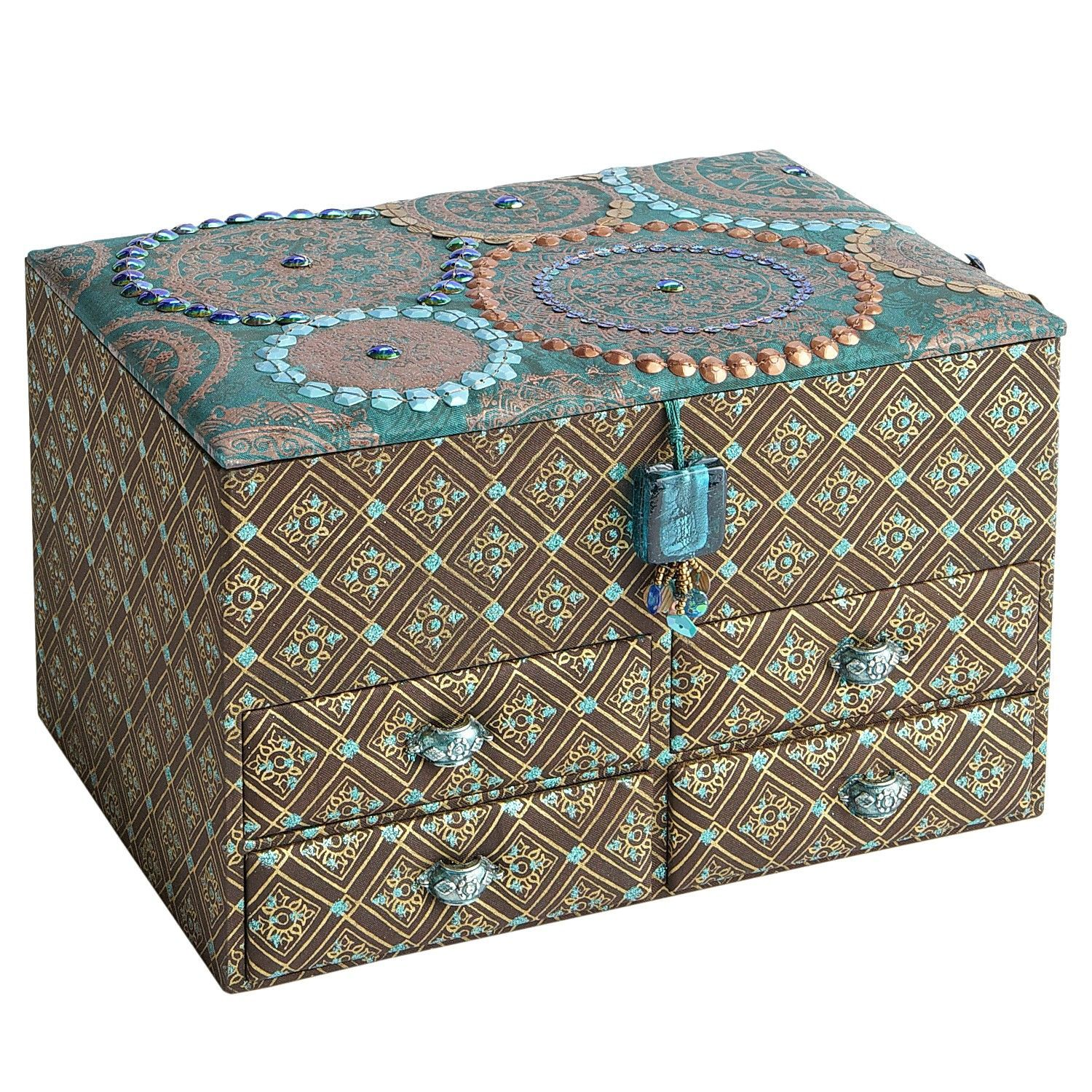 Pier 1 imports Fabric Covered Jewelry Box Karbidboxes