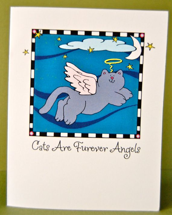 Cats Are Furever Angels - Single Pet Love, Sympathy Card