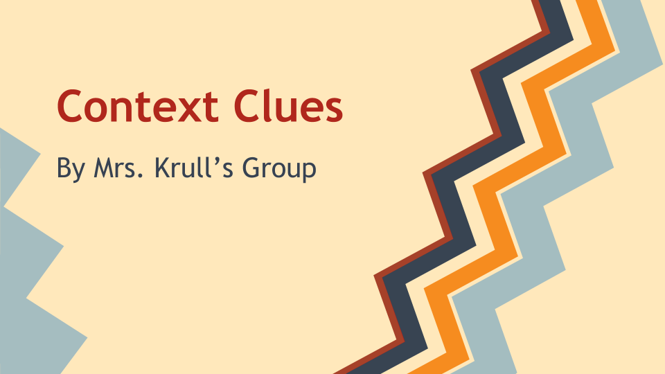 Check out this #Kahoot called ' Context Clues' on @GetKahoot. Play it now!