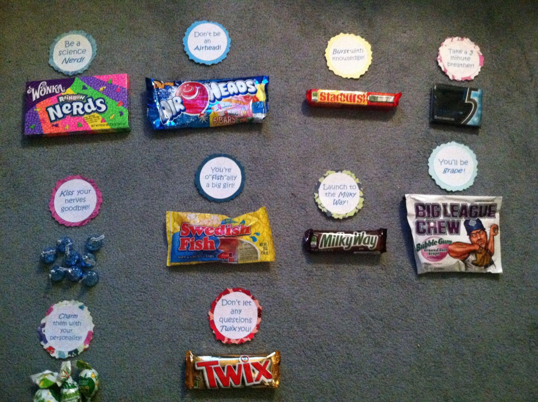 Good luck candy ideas   Ideas   Pinterest   Cheer, Gift ...
