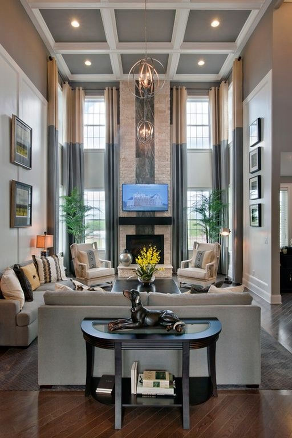 30 Tall Curtain Living Room Design 40 With Images High