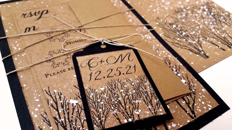 Snowy Winter Wedding Invitations Winter Wedding Invitation Winter Tree Wedding Invita Winter Wedding Invitations Tree Wedding Invitations Rustic Winter Wedding