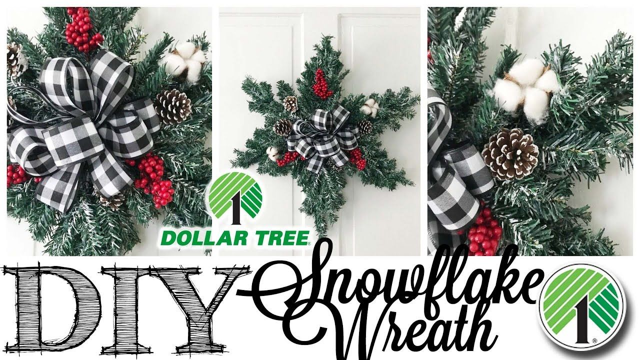 Diy Dollar Tree Christmas Wreath Snowflake Youtube Dollar Tree Christmas Decor Christmas Wreaths Christmas Wreaths Diy
