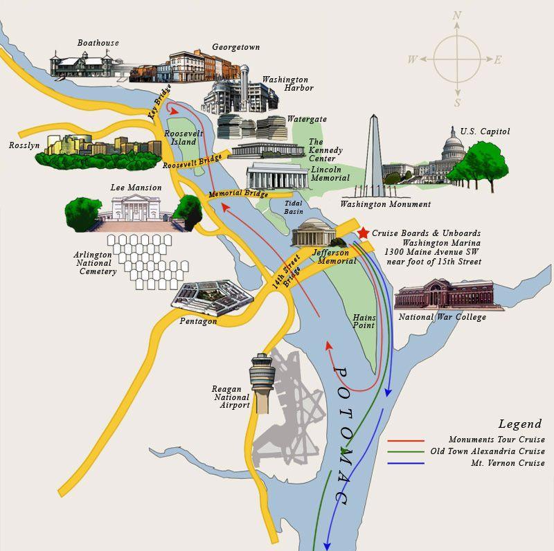 Washington DC Sightseeing Cruises Potomac River Cruises DC