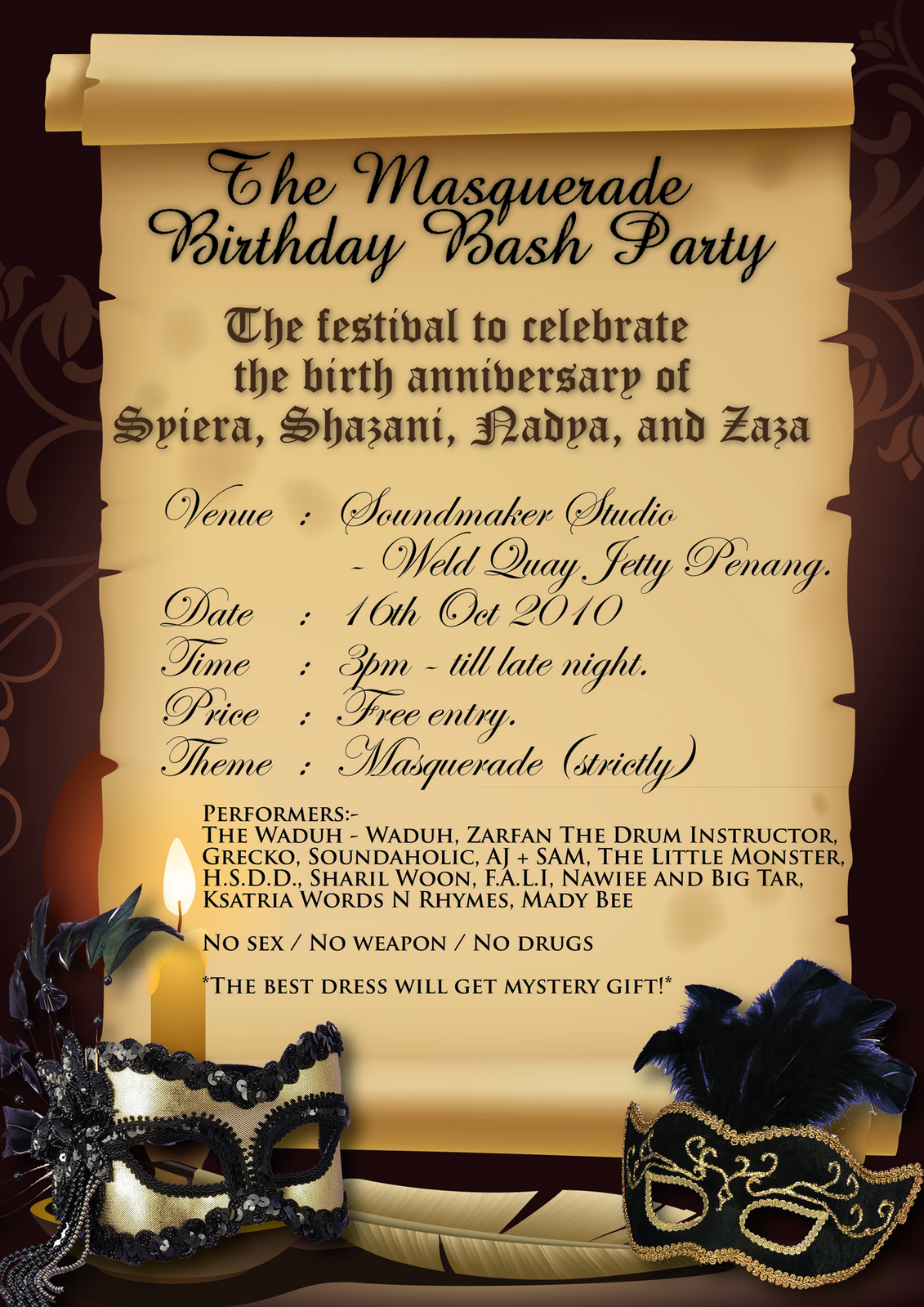 masquerade party decorating ideas | The Masquerade Birthday Bash ...