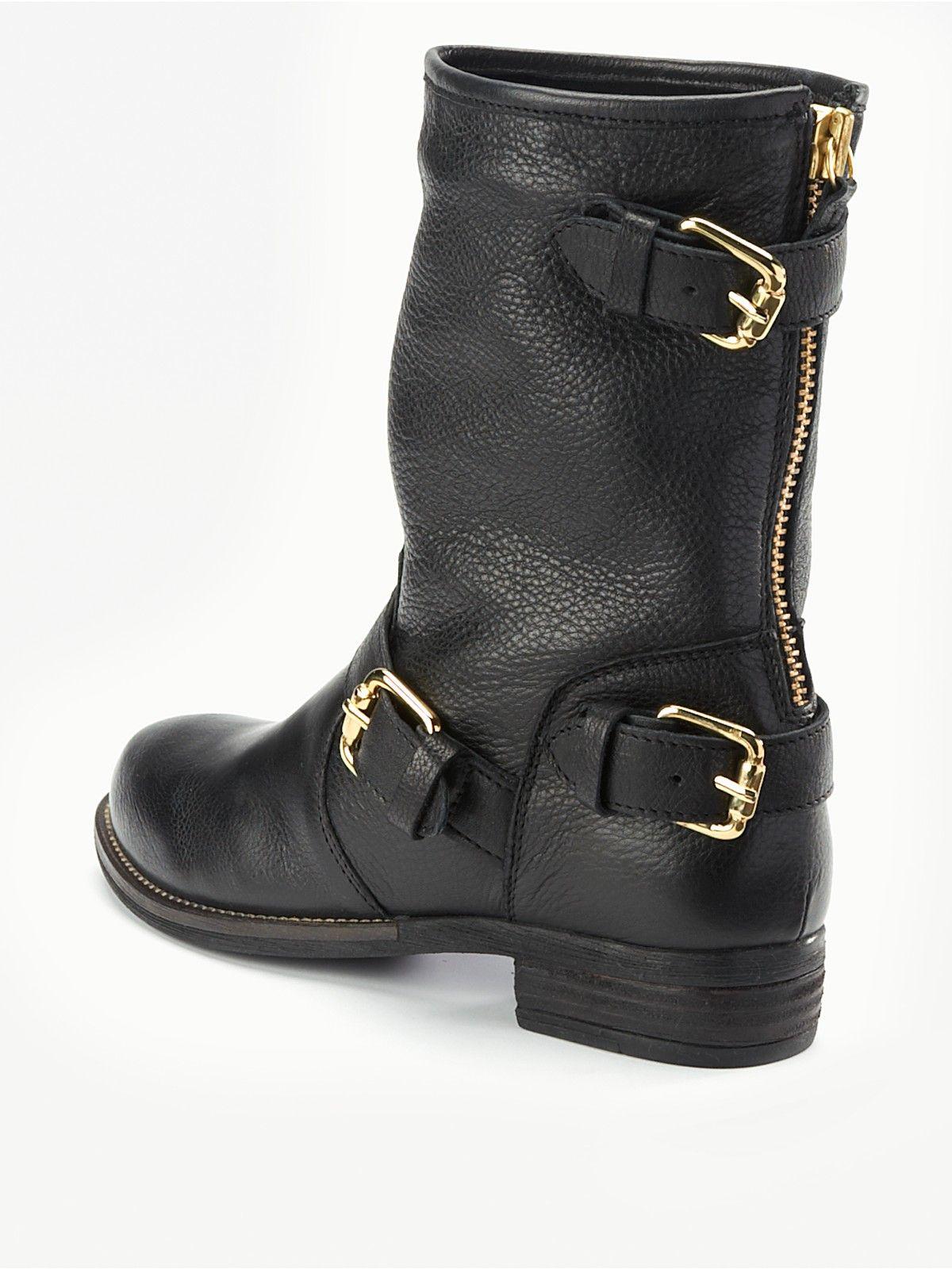 dune svart biker støvler for sale 7a023