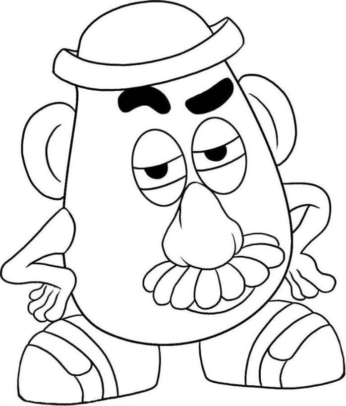 mr potato head toy story coloring page cheer float