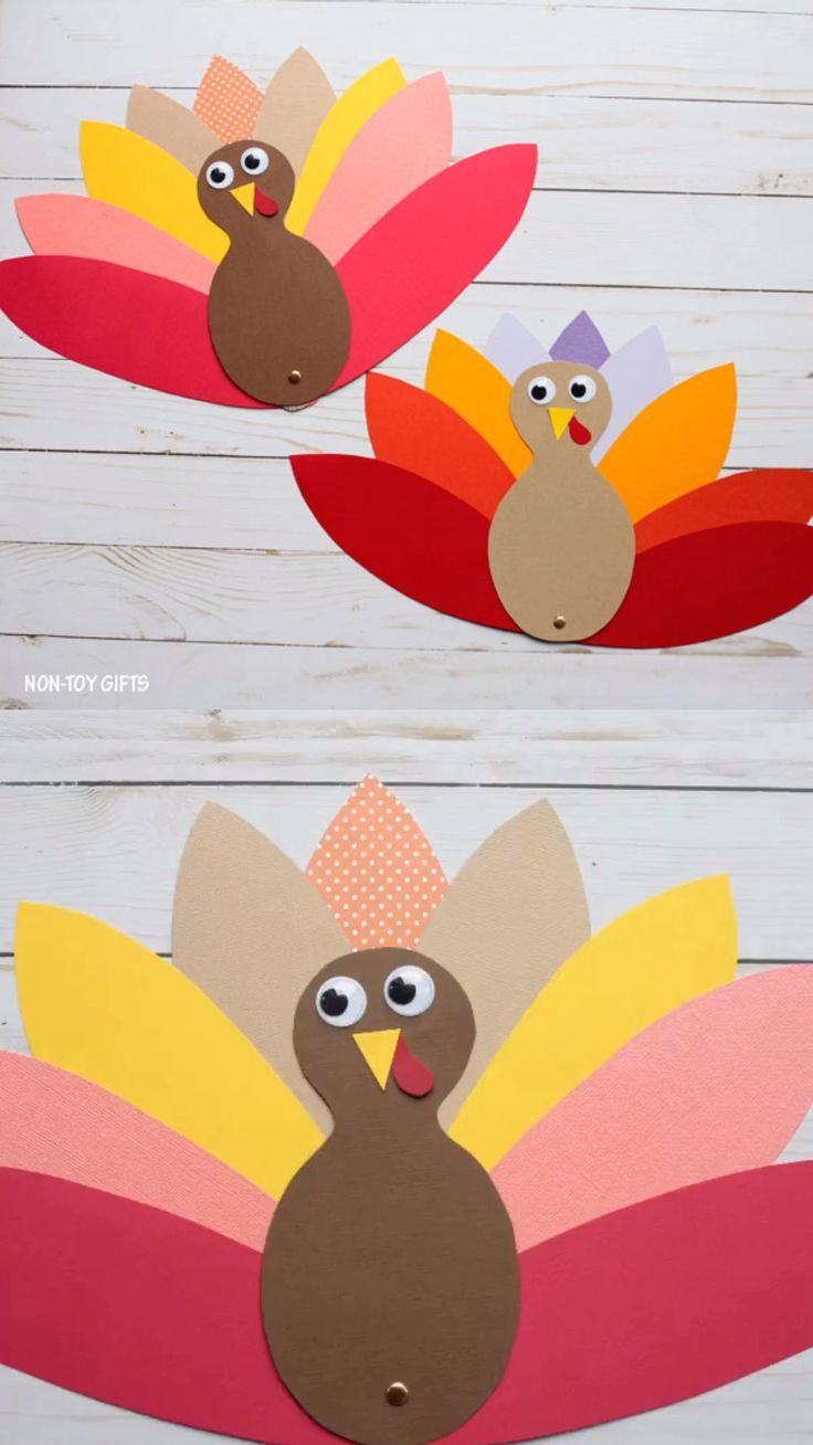 Paper Turkey Craft (With Template) Thanksgiving Craft