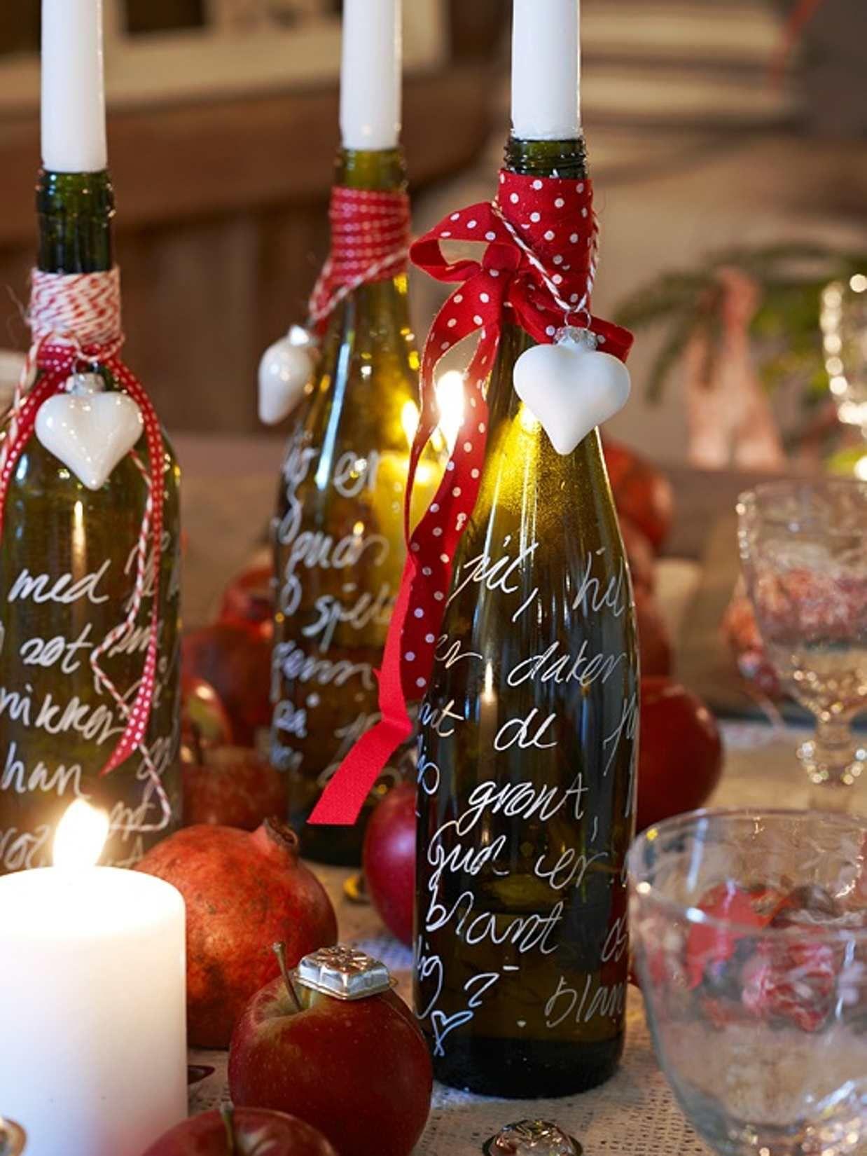 5 Ideer Til Julens Festbord Bottles Decoration Christmas Candle Selling Candles
