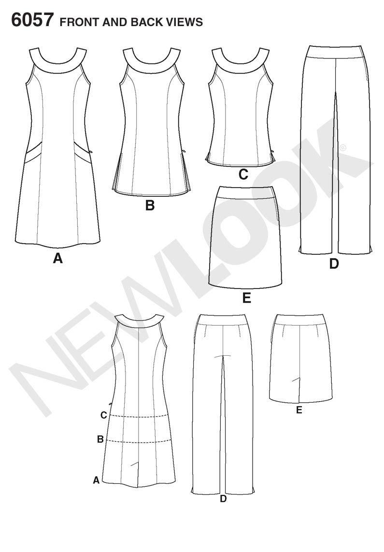 New Look sewing pattern 6057: Misses\' Sportswear | patrones faciles ...