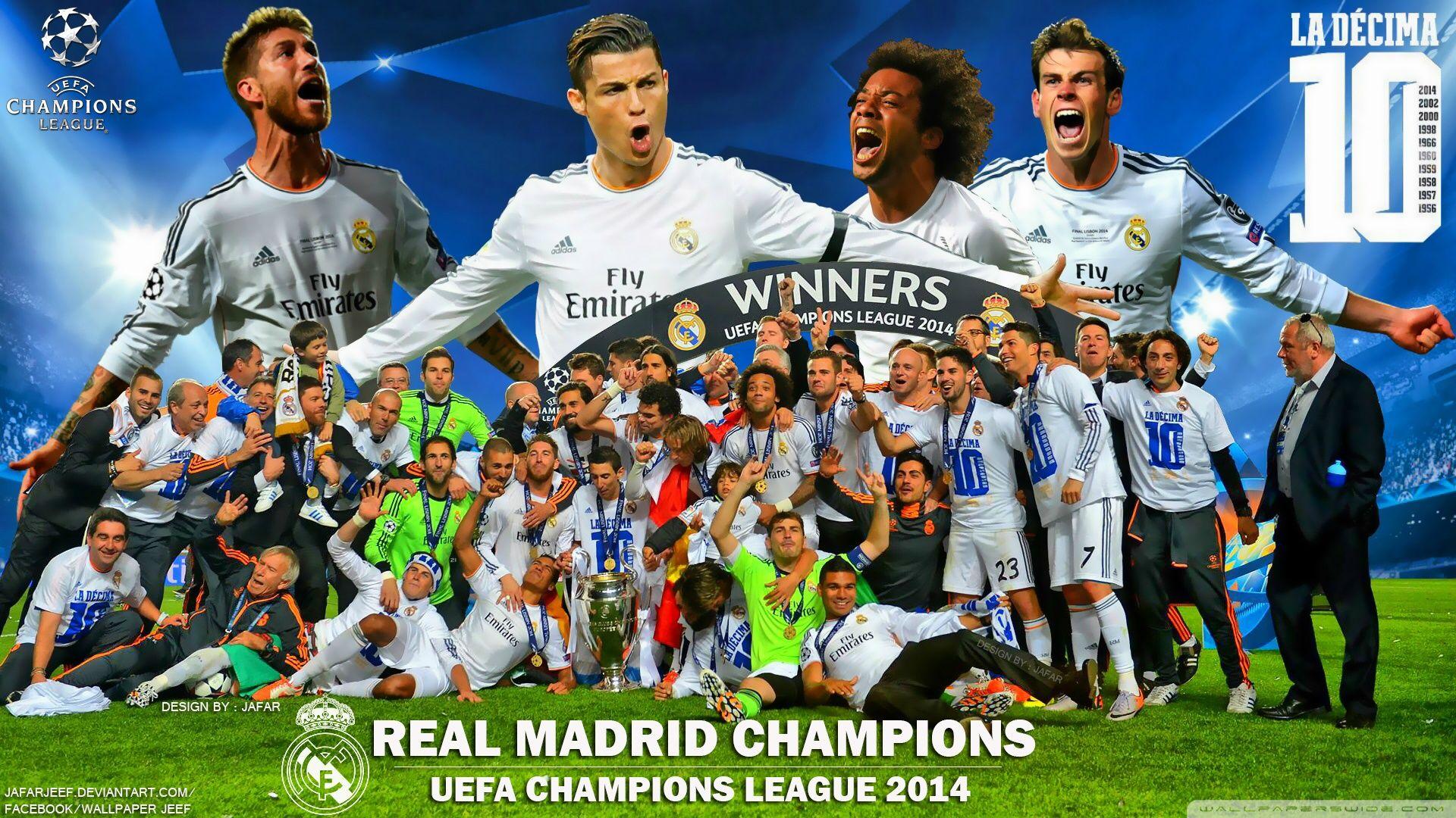 Wallpaper real madrid for windows xp - Real Madrid Winners Champions League 2014 Hd Desktop Wallpaper