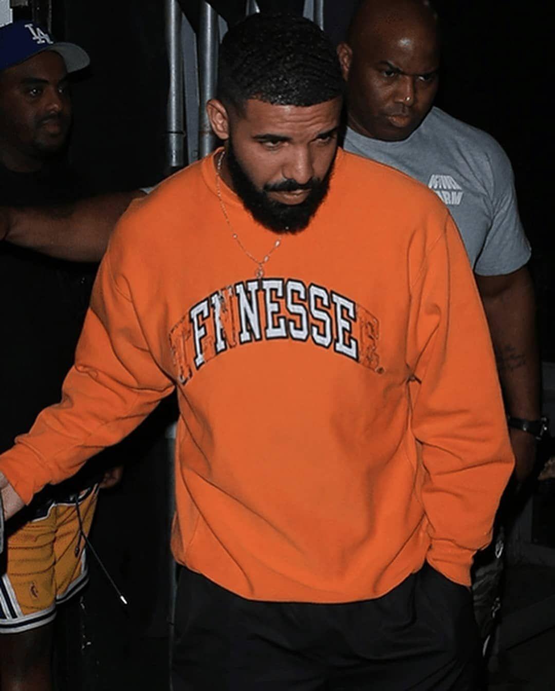 Shirt Brand New As worn by Drake Finesse Tennessee Orange Sweatshirt