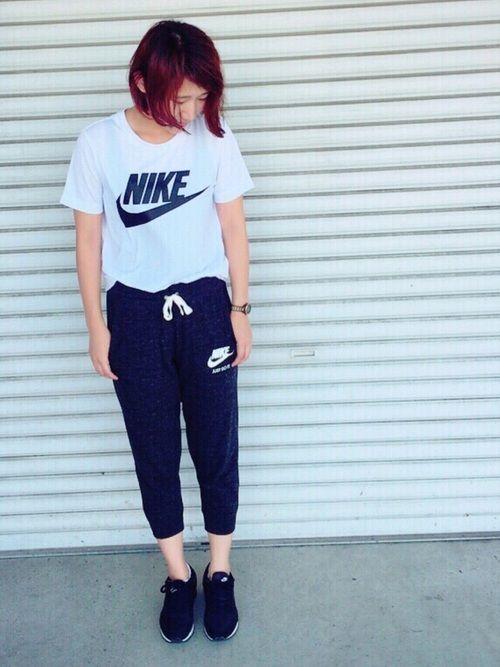 Mikako Nikeのtシャツ カットソーを使ったコーディネート ファッション ファッションアイデア ファッションコーディネート