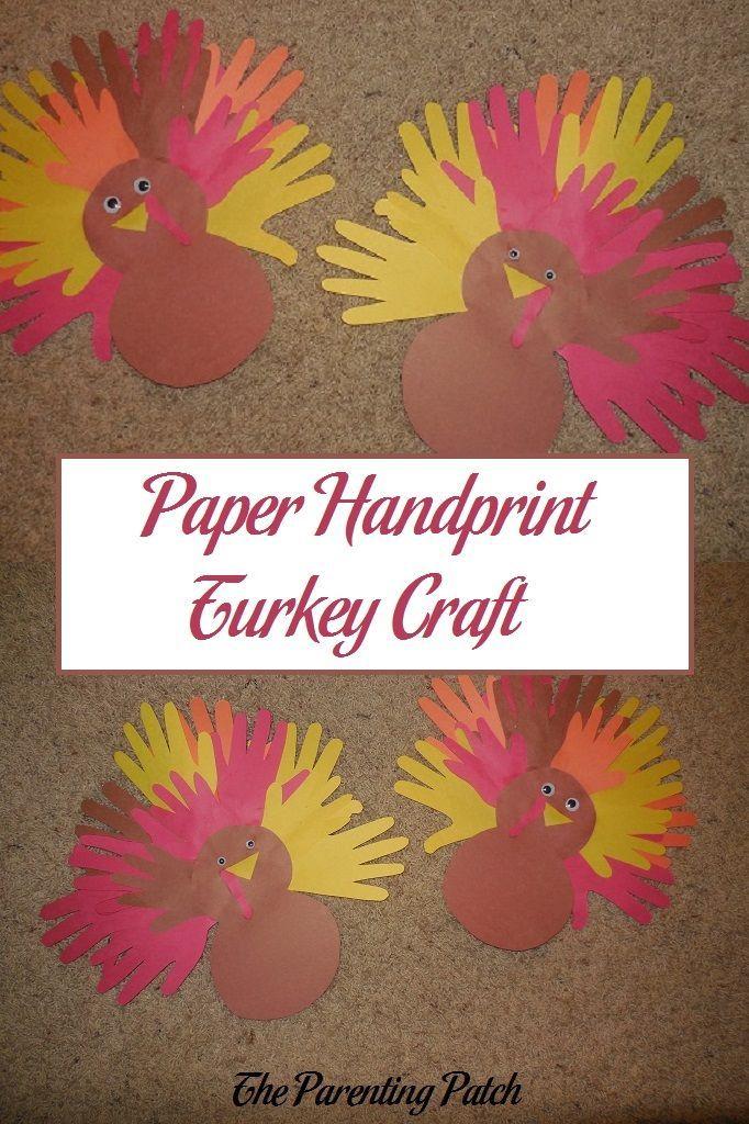 Paper Handprint Turkey Craft