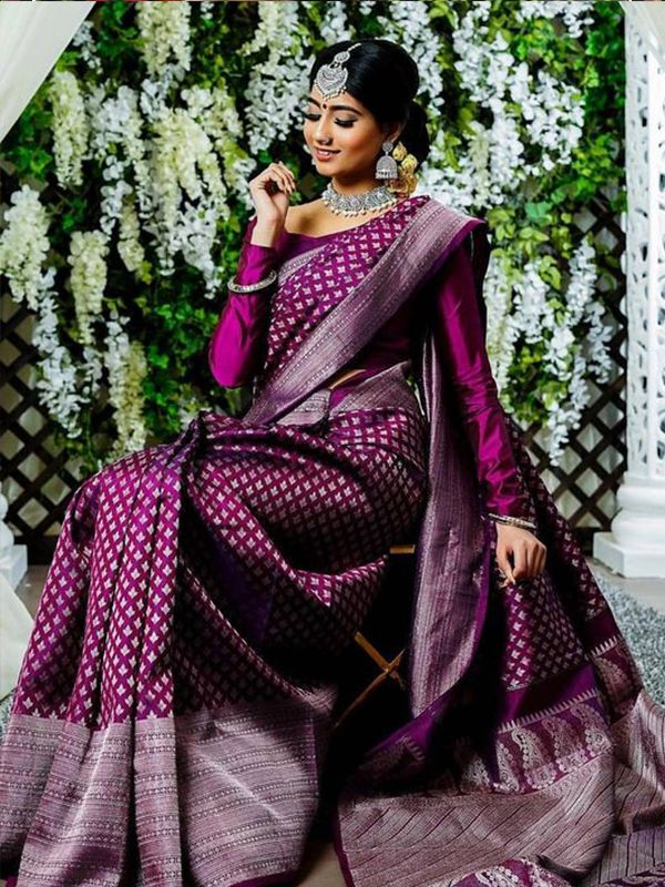 Photo of Stylish Magenta Color Latest Silk Saree With Blouse Piece – DSS133