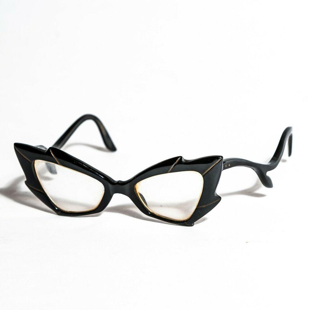 ef1adc45373 Vintage Unusual Cat Eye Abstract Eye Glass Frames Eyeglasses  CatEye