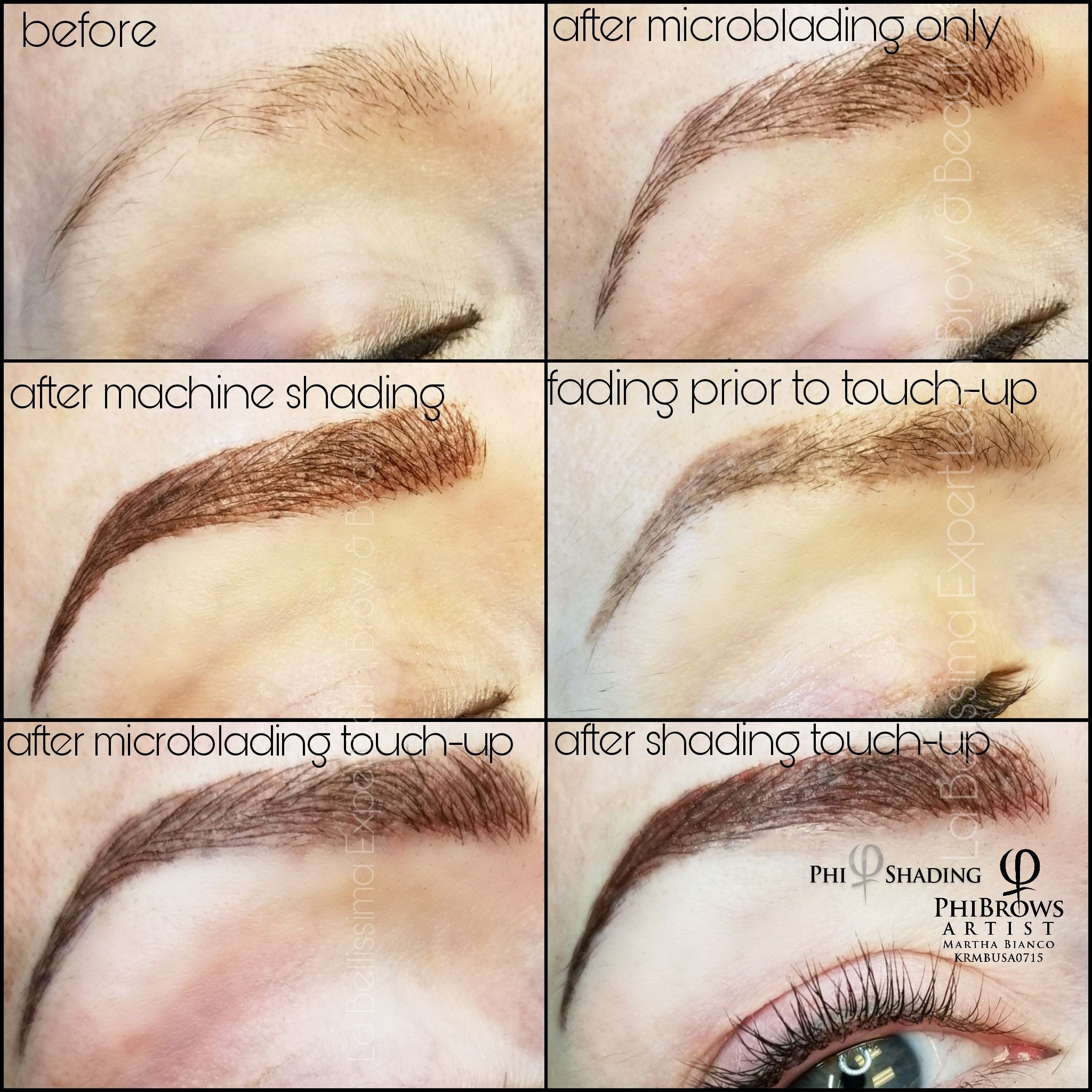 This shows the progress of my most popular brow service
