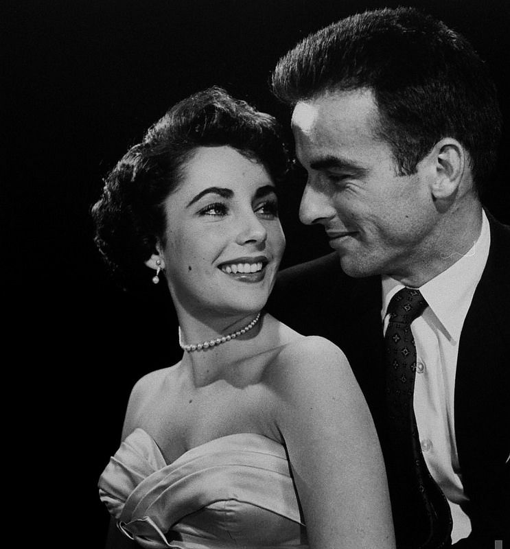 Elizabeth Taylor and Montgomery Clift from 'A Place in the Sun', 1950