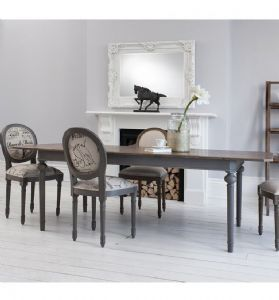 Maison Rectangle Extending Table Dark Grey