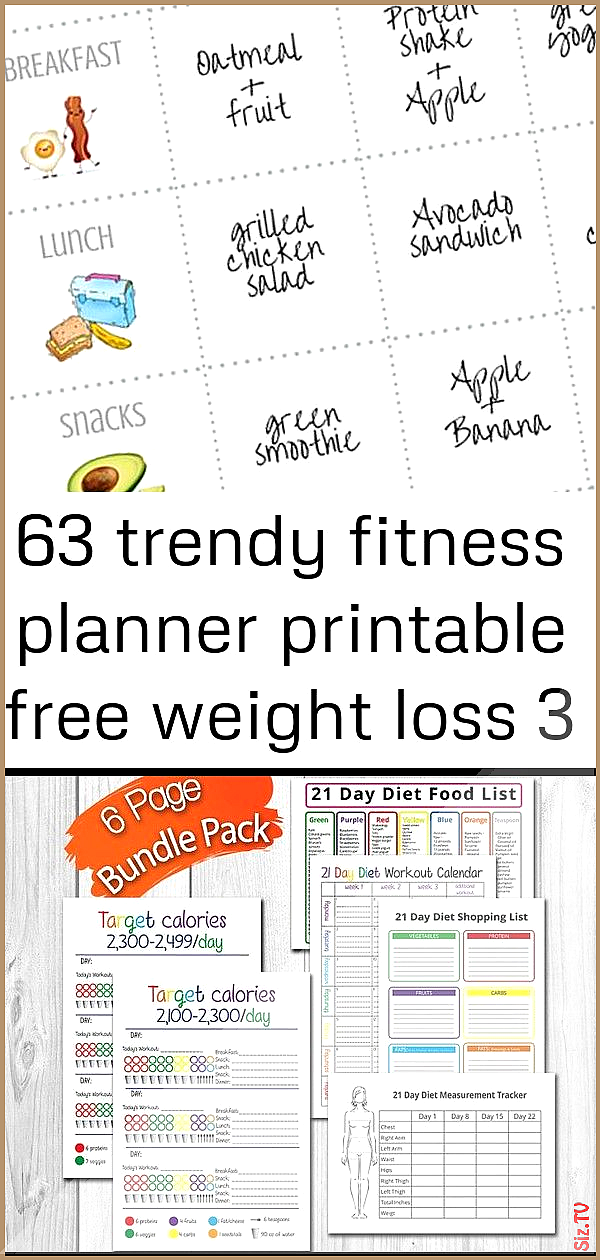 63 trendy fitness planner printable free weight loss 3 63 trendy fitness planner printable free weig...