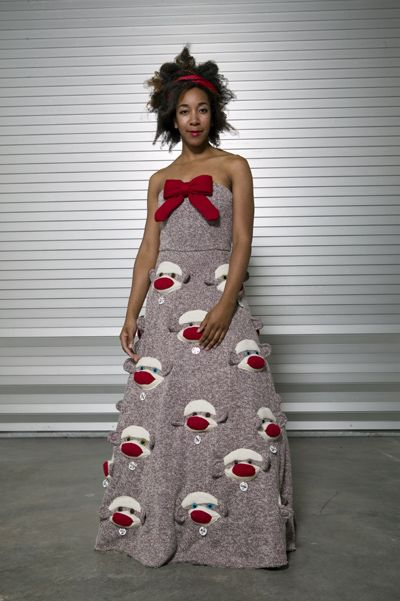 Would you wear this Sock Monkey Dress? That is a rhetorical question ...