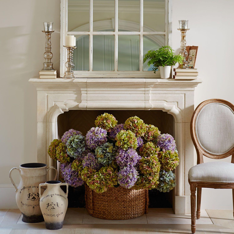 American Country Style Mediterranean Blue Porcelain Vase ... |Country Hydrangeas Vase