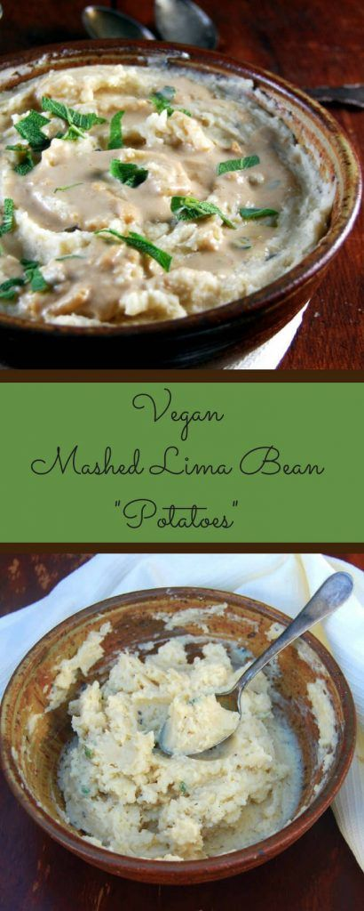 Mashed Lima Bean Potatoes With Onion Gravy