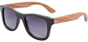 894ea0a342 SHINU Polarizadas Gafas de Madera de Bambú Gafas de Sol Lentes de Madera  Vintage y Espejos