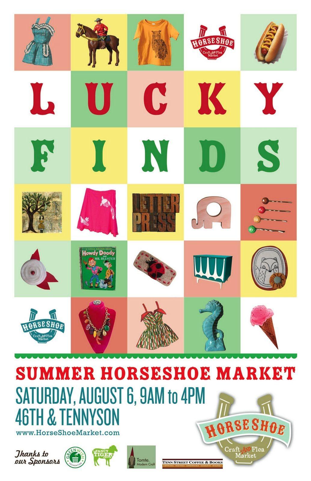 Summer Horseshoe Market Poster #luckyfinds  #denver
