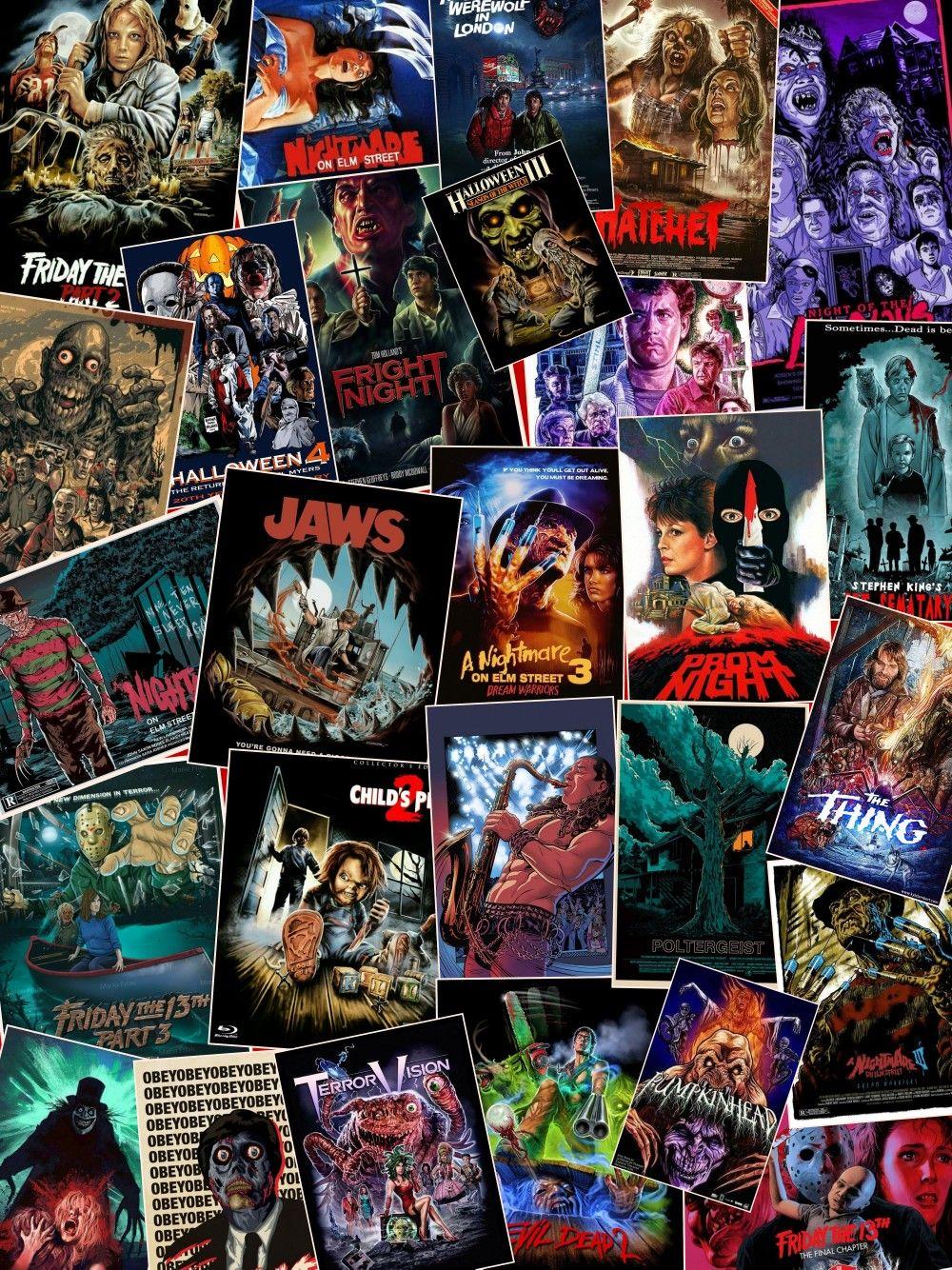 Horror movie poster collage movie collage