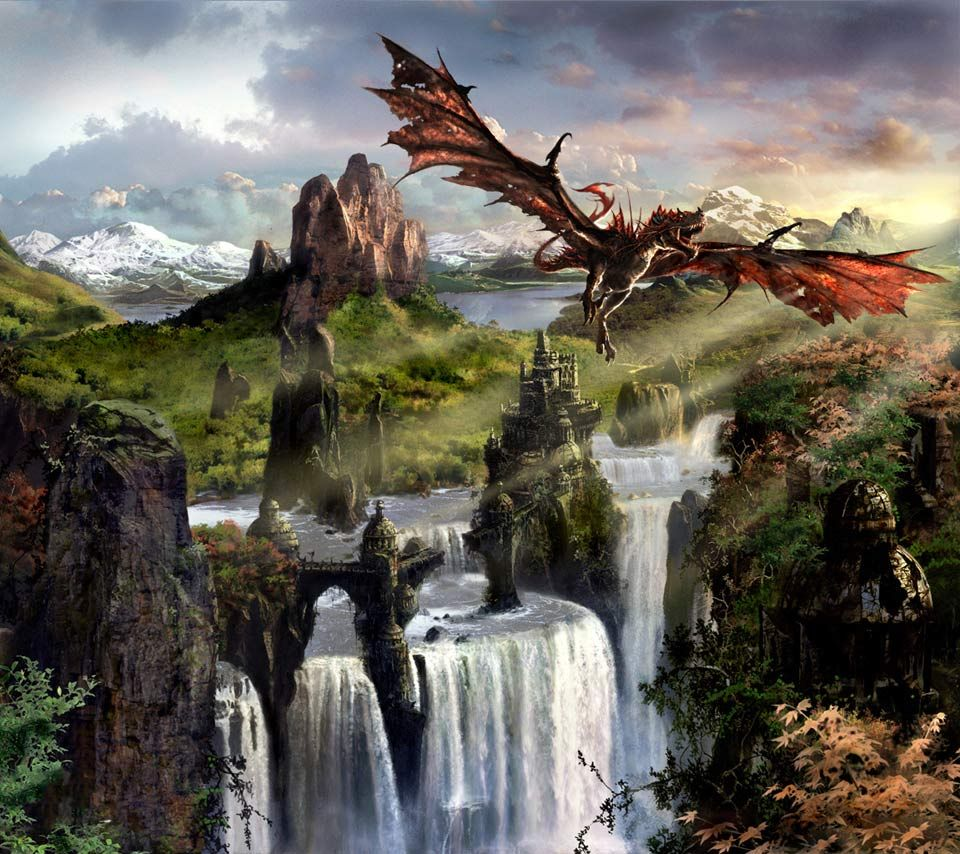 Fantasy Landscape Dragon Background 1 HD Wallpapers