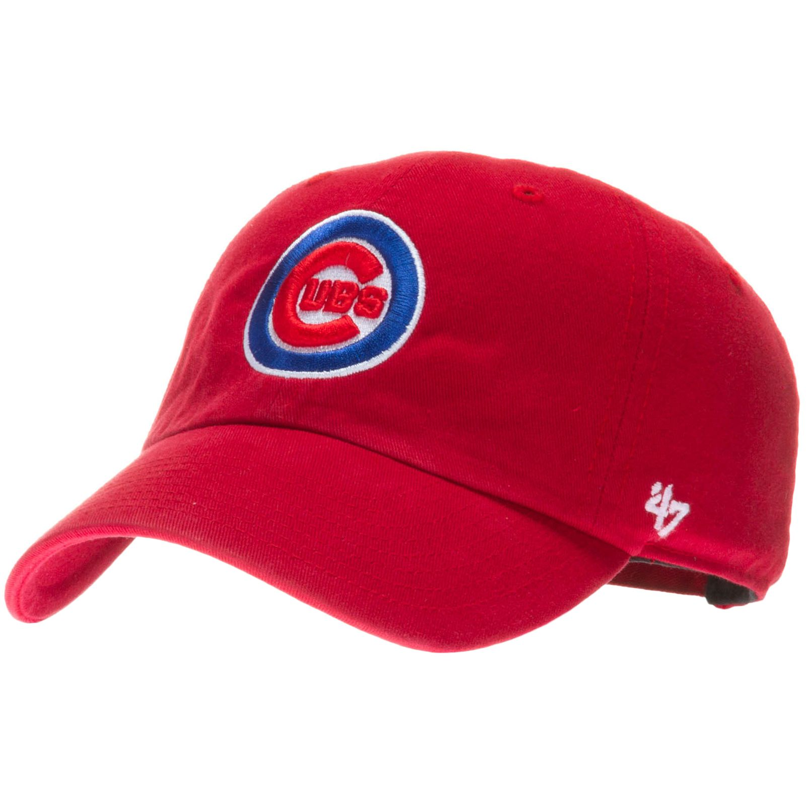 76887754 Chicago Cubs Red Relaxed Crown Bullseye Logo Adjustable Hat by ...