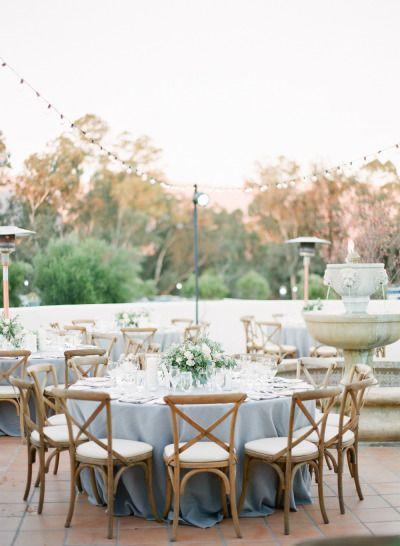Al fresco goodness: http://www.stylemepretty.com/2015/02/12/romantic-ivory-grey-ojai-valley-inn-wedding/ | Photography: Diana McGregor - http://www.dianamcgregor.com/