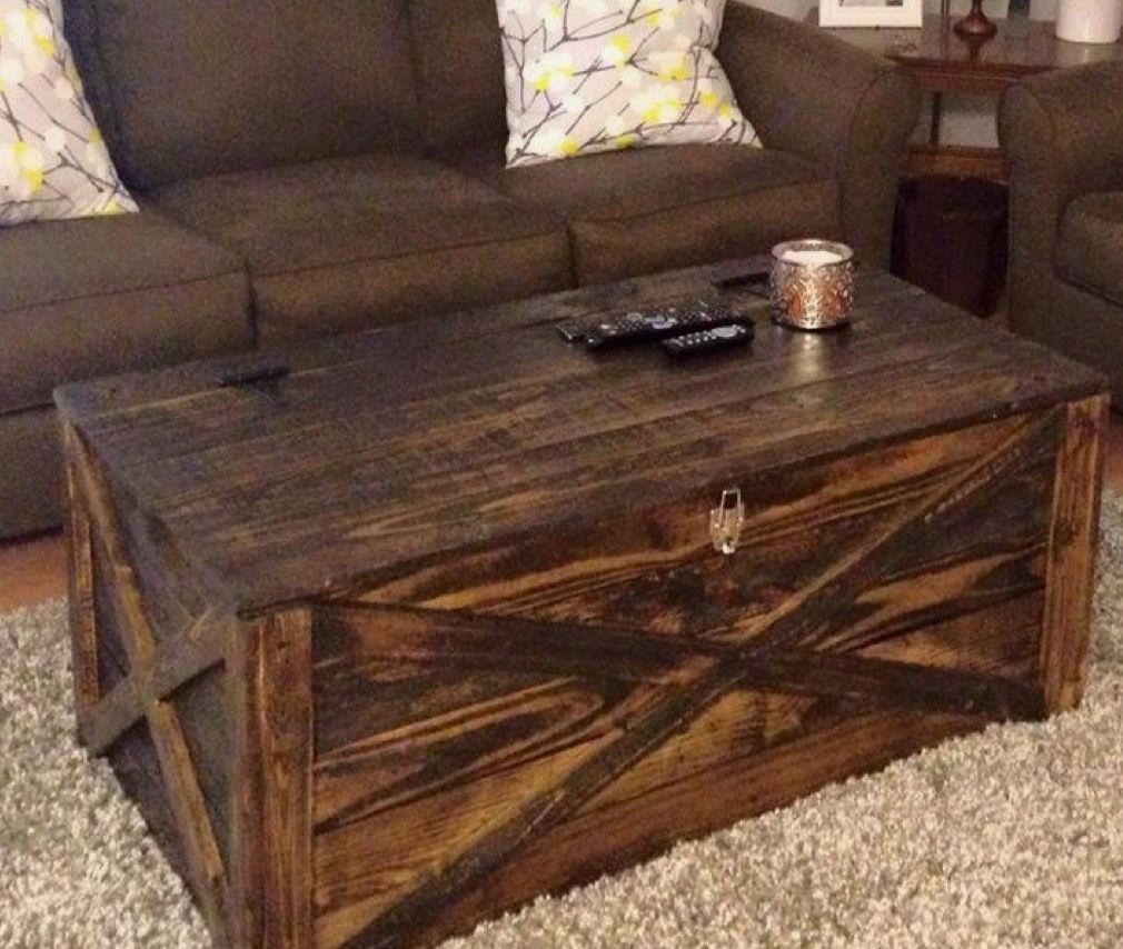 Pallet Coffee Table With Hidden Storage: Pin By Catherine Robertson On Farmhouse Styles