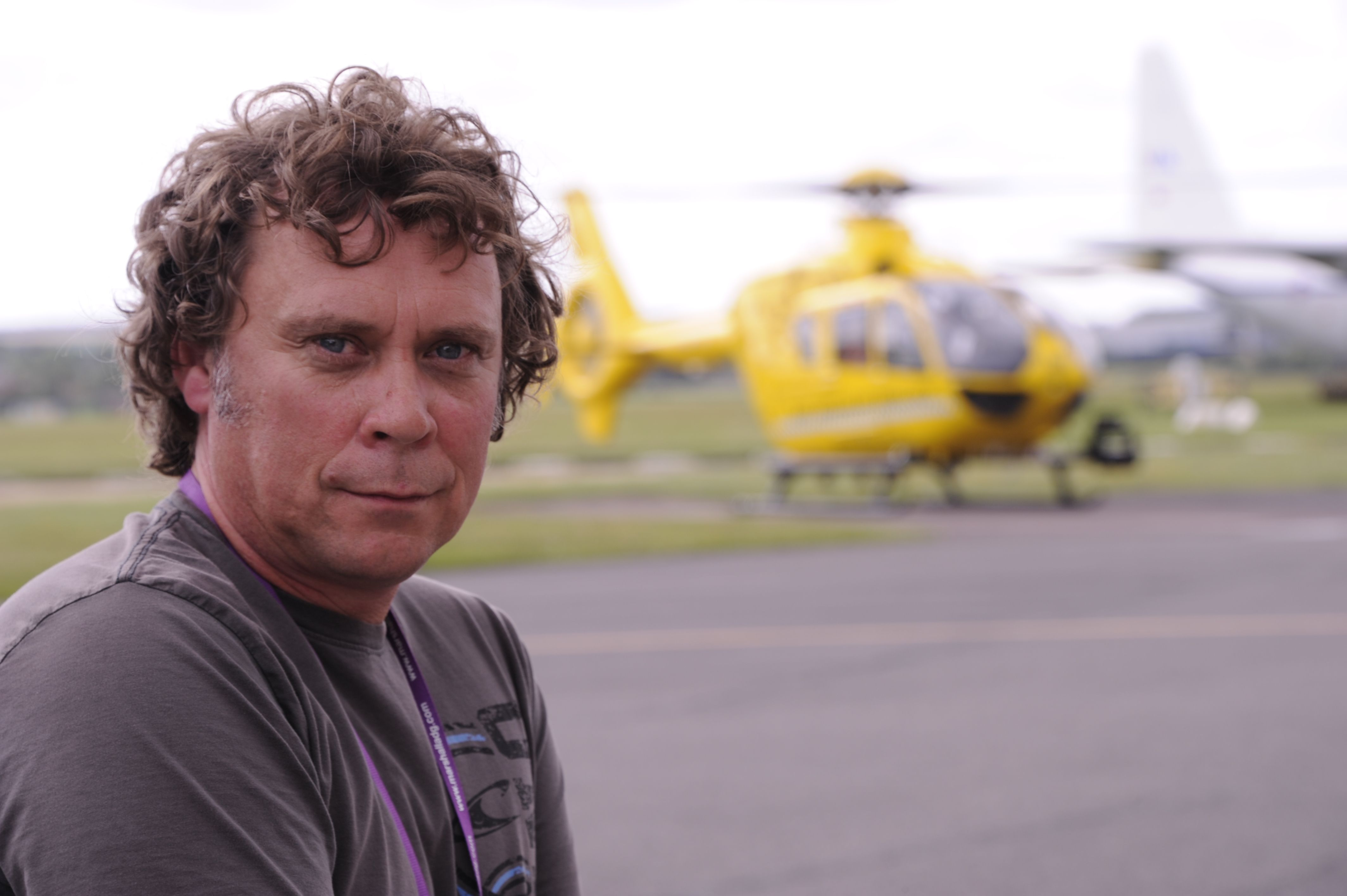 """August 2012: Kitesurfer, Mark Warren was launching his rig when he was caught by a freak gust of wind and slammed into the sea wall. He sustained life-threatening injuries, including a ruptured aorta, and was airlifted to Addenbrookes Hospital for life-saving surgery. He said: """"If it wasn't for the skill of the first paramedic on scene and the EAAA team I would have died."""" A year later, he visited the EAAA with his wife and son and the 5-month-old daughter he would never have met."""