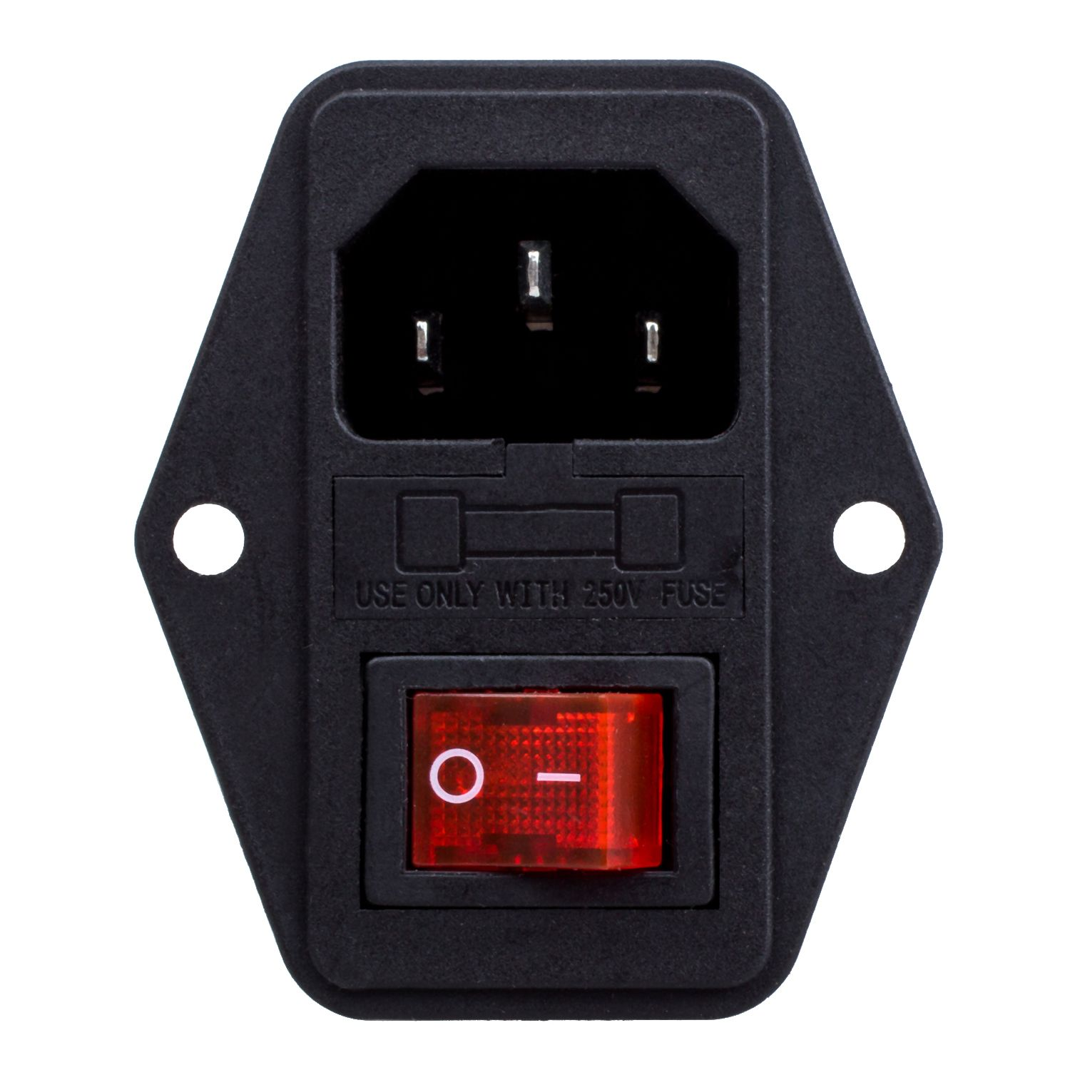 Inlet Module Plug Fuse Switch Male Power Socket 3 Pin Product Name W Material External Plastic Metal Color Red